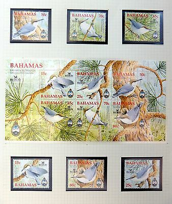 BAHAMAS 2005 Birds Set & M/Sheet U/M NB2984