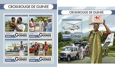 Red Cross Medicine Guinea MNH stamp set