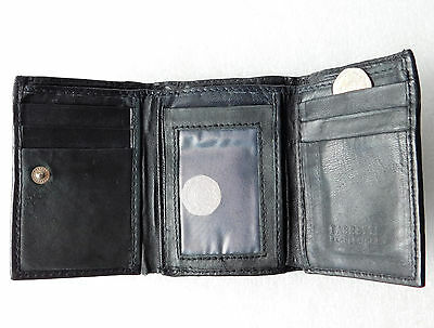 Fabretti small leather wallet ID credit card holder Exterior zipped coin purse