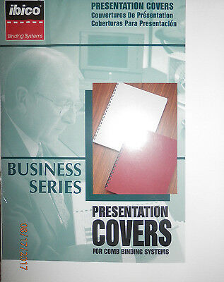 IBICO Business Presentation Covers for COMB binding systems #25324 White 25 sets