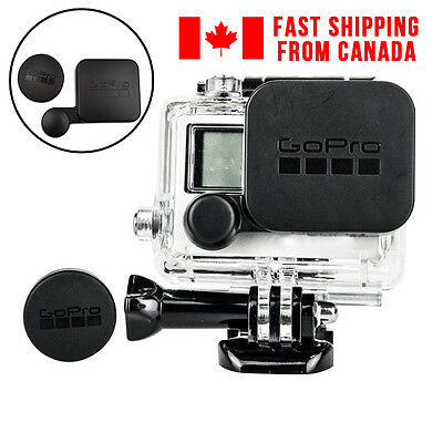 Protective Waterproof Lens Cap Cover + Housing Case Cover for Gopro HD Hero 4/3+