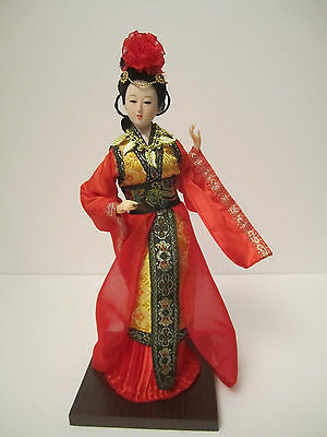 """NM Four Ancient Beauties Yang GuiFei 12"""" Vivid Decorative Oriental Chinese Doll"""