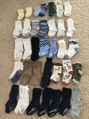 Lot of 35 Baby Boy Socks