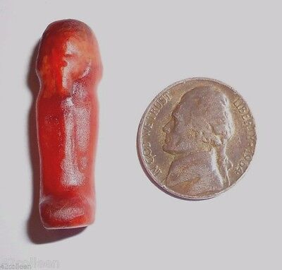 Rare 27 Dynasty Smaller Ancient Egyptian Carnelian Stone Ushabti