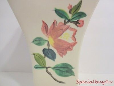 Vintage 1950's Mid Century Lg. Blossom Time Vase RED WING Signed #H511