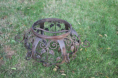 Antique Victorian Architectural Garden Chandelier-Metal Flowers Scrolls-Holland