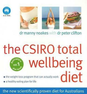 NEW The CSIRO Total Wellbeing Diet  By Dr. Manny Noakes Paperback Free Shipping
