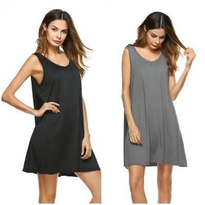 Hot Women Summer Sleeveless Dress Party Cocktail Evening Casual Short Mini Dress