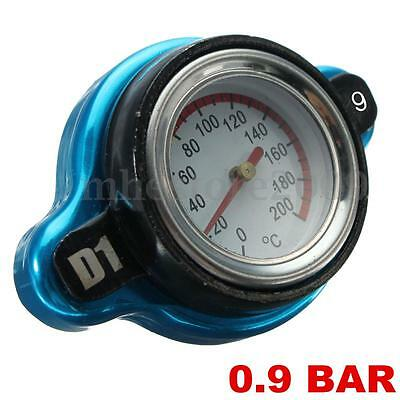Car Moto 0.9Bar Thermo Thermostatic Radiator cap Cover water temperature Gauge u