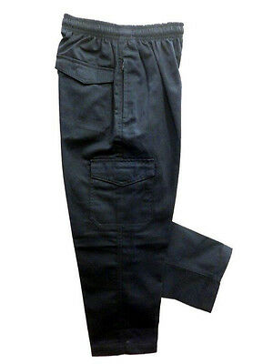 3 Pairs of Boys Cargo Pants Navy Blue Size 10 Youth School Wear