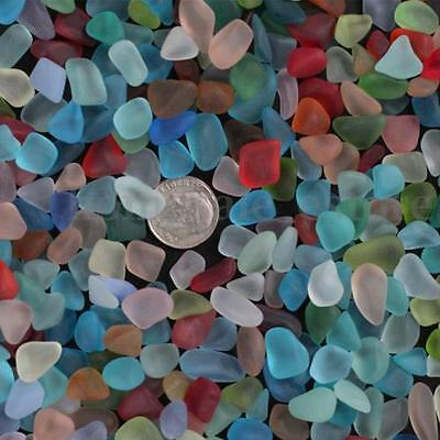 Sea Beach Glass Beads Mixed Colors Bulk Blue Green Jewelry Pendant Decor 10-20mm
