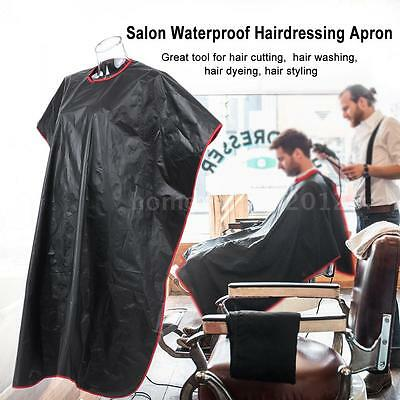 Hair Cutting Cape Salon Hairdressing Hairdresser Gown Barber Cloth Apron T3W6