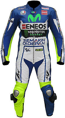 Valentino Rossi Vr46 Yamaha Motorbike Racing Leather Suit All Sizes