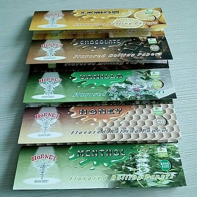 New 5 Fruit 110mm Flavored Smoking Cigarette Hemp Tobacco Rolling Papers