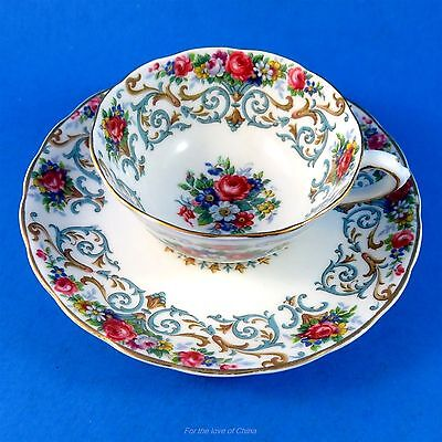 "Pretty Floral ""Orleans"" Tuscan Demitasse Tea Cup and Saucer"