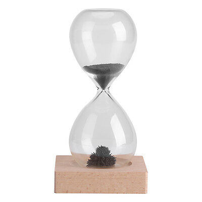 Magnetic Iron Sand Timer Hourglass Home Office Desktop Decoration Dispaly Gift H
