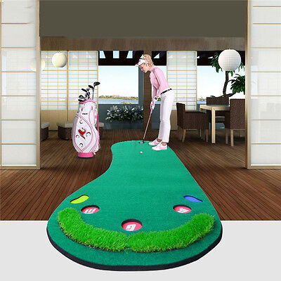 Golf Putting Green Auto Return 2 Löcher Praxis Mat Innen Indoor Nützliche 2017