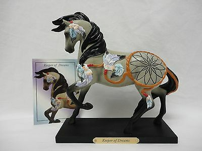 Trail Painted Ponies Keeper of Dreams Horse Statue Model Native American Catcher