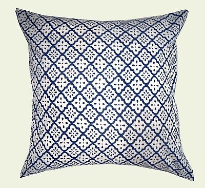"""1 pc Indian Hand Block Print Bedroom Pillow Case Home Decor Cushion Cover 16x16"""""""