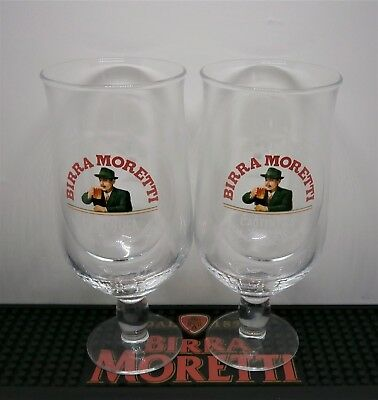 Set Of 2 Birra Moretti Pint Glasses Brand New 100% Genuine Official CE Marked