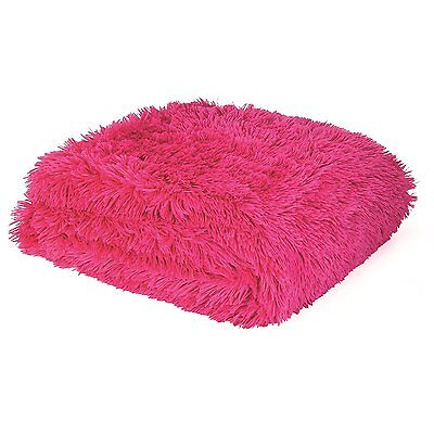 Catherine Lansfield Home Cuddly Soft Knit 100% Acrylic Cosy Hot Pink Throw