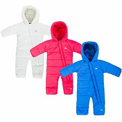 Trespass Amcotte Baby Winter Hooded Snowsuit Quilted Boys Girls Pramsuit