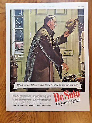 1944 DeSoto Ad  Whisking Doctors House Call
