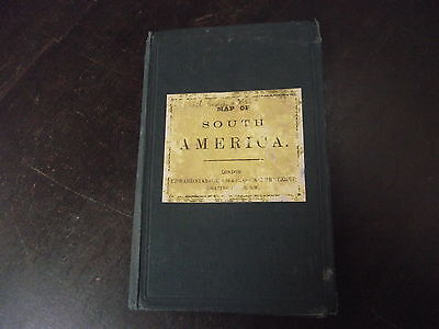"""old edward stanford map book of  """" south america """""""