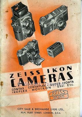 Zeiss Ikon 1936 Camera Catalogue Contax Contaflex Super Ikonta. Others Listed.