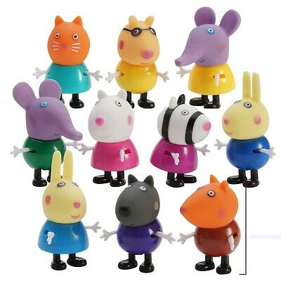 21 Pcs Cute Peppa Pig Family Friends Emily Rebecca Suzy Action Figures Toys Kids