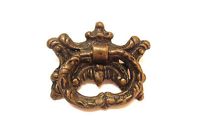 Antique Brass Butterfly  Drop Ring Drawer Pull
