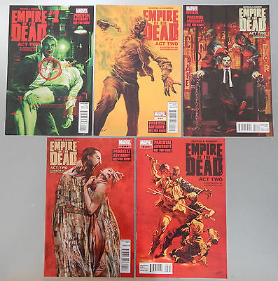 Empire of The Dead Act Two comics full set lot #1 2 3 4 5 Marvel George A Romero