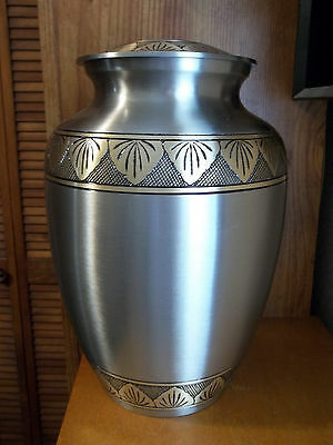 Adult Brass Urn~Dbl Size Companion Pewter w/Blk& Bronze~XXL sized for up to 400#