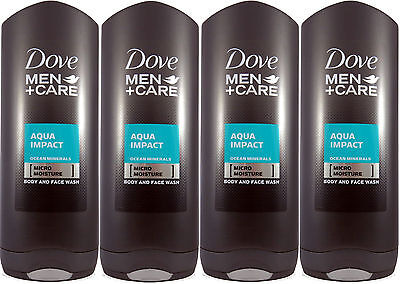 4 x 400 ml Dove Men +Care Aqua Impact Duschgel