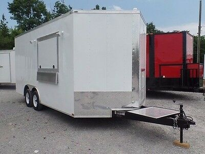 Concession Trailer 8.5' x 16' White Food Event Catering Elite