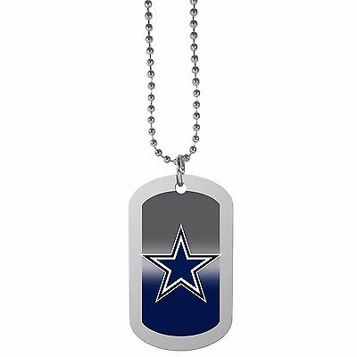 Dallas Cowboys Team Tag Necklace NFL Football Licensed Jewelry Dog Tag Style