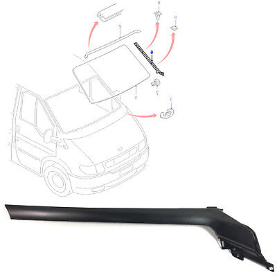 Lh / Left / Nearside Windscreen Moulding Trim Fits Ford Transit Mk6 2000/06