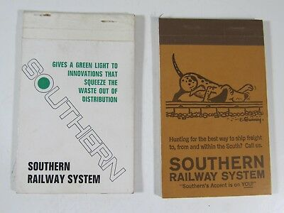 Vintage Southern Railway System ; Memo Note Pad Notebook Lot of 2