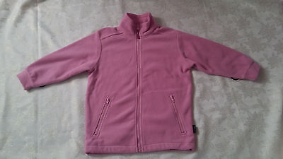 Girls Pink Long Sleeve Fleece Jacket for 9 or 10 years old