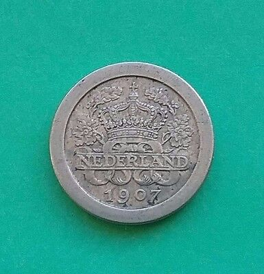 Netherlands 1907 Five 5 cents