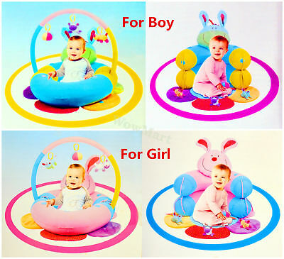 New Happy Baby Sit Me Up Cosy Blossom Inflatable Ring Comfortable Cushion