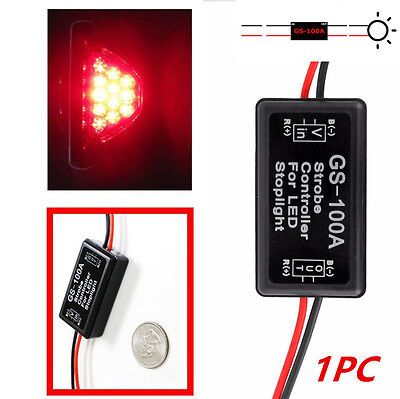 1PC 12V GS-100A LED Brake Stop Light Strobe Flash Module Controller Box For Car