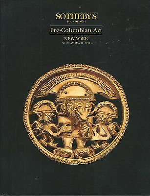 SOTHEBY'S PRE-COLUMBIAN PERU MAYA MASK GOLD MEXICO ART Auction Catalog 1993