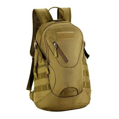20L Backpack Tactical Military Outdoor Hiking Cycling Travel Backpack Brown