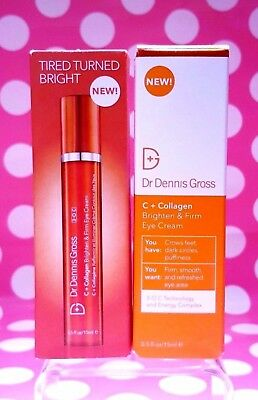 Dr Dennis Gross C + Collagen Brighten & Firm Eye Cream .5oz/ 0.5 oz BRAND NEW- B