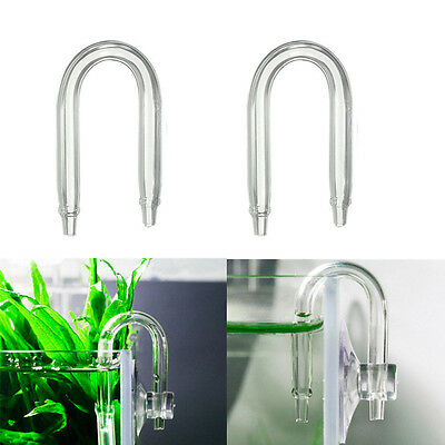 U Shaped Glass Tube Bend Acrylic Pipe For Aquarium Co2 System Diffuser Size S UK