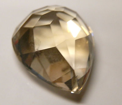 Natural citrine pear shaped gemstone..11.6 Carat...18 mm x 13.5 mm gem