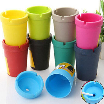 Car Vehicle Ashtray Cigarette Butt Bucket Cup Self Extinguishing Bin Home Office