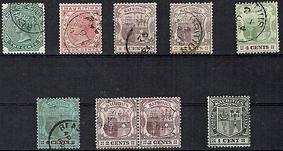 Mauritius Stamps 1885-1910       Higher Values  offered               mauritius9