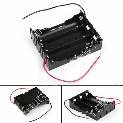 3 Cell 18650 Series Battery Holder Storage Case With Wire Leads 11.1V